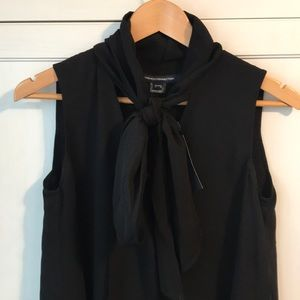French connection black bow tie Aline dress size 0